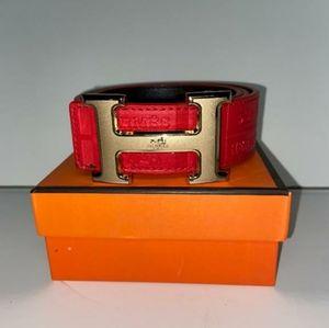 Red Hermes Belt